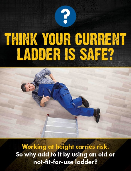 Think your ladder is safe Image