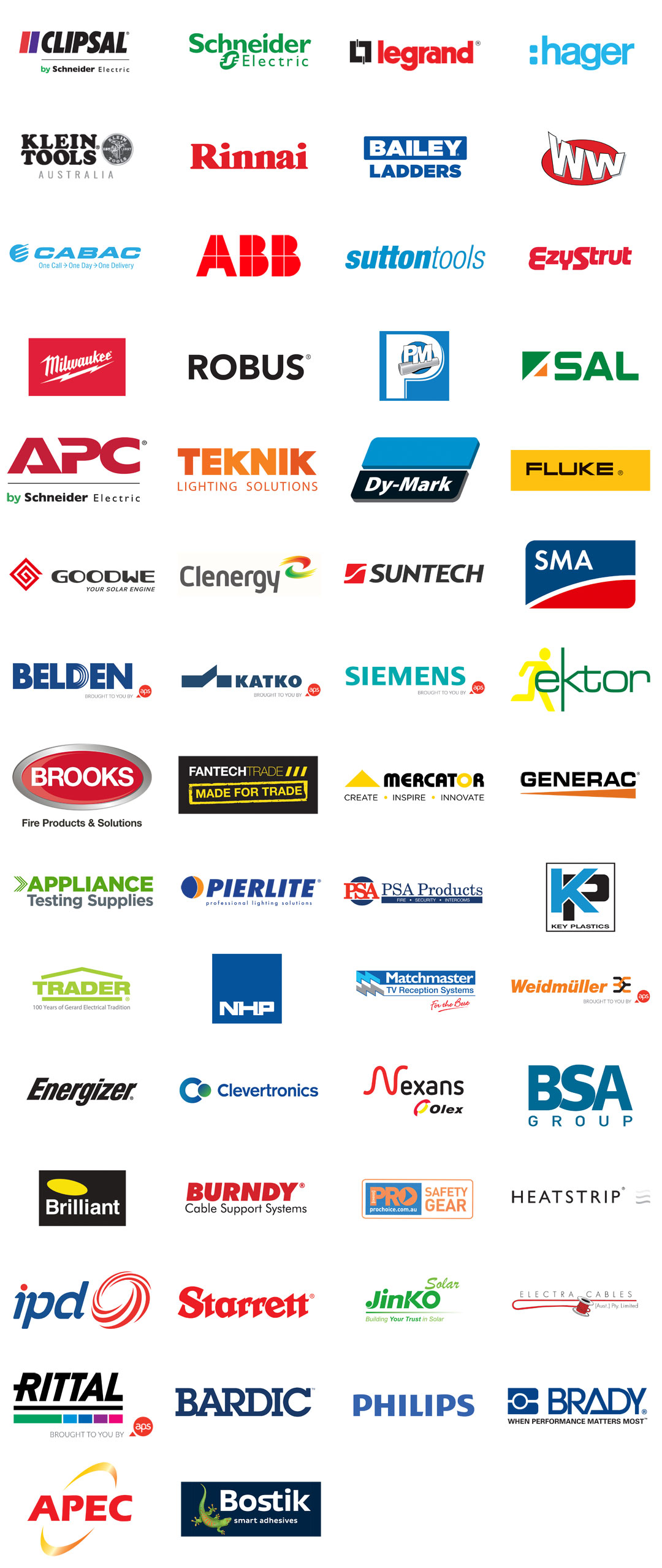 Sparky Plus Collage of Supplier Logos